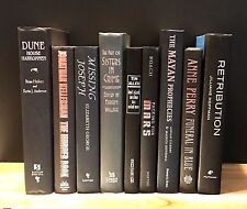 Decorative Books~Instant Library~Lot of 9 ~Black Spines