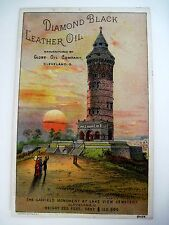 """Victorian Trade Card for """"Diamond Black Leather Oil"""" by """"Globe Oil Co.""""  (N)*"""