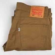 Levi's 505 Mens Jeans Regular Straight Leg 100% Cotton Beige Colour Size W33