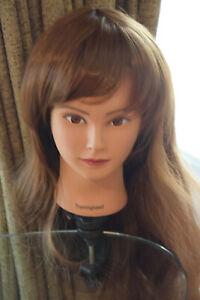 Pretty Brown Long Curly Women Cosplay Wig Halloween