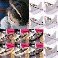 Women Crystal Rhinestone Fish Line Beaded Headband Hair Hoop Hair  Accessories
