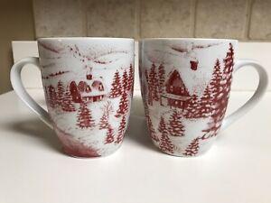 Gibson Elite Winter Cottage Coffee Mugs
