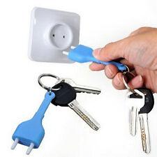 Useful Home Decroation Design Unplug Keyring  Plug Socket Keychain Key Ring