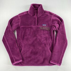 Patagonia Womens 1/4 Snap Pullover Purple Size Medium