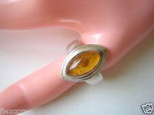 925 Silber Ring Bernstein Honig Oval 7,1 g / 20,9 mm Amber