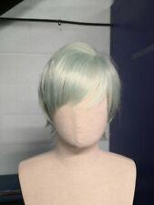 Luz Verde Menta Short Peluca Cosplay sintético