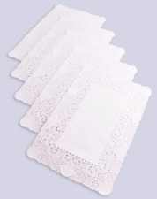 More details for rectangular paper doilies doyley doylies 12