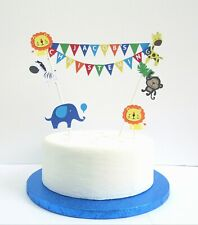 Personalised Cake Topper Safari Design.  Birthday / Christening Cake Decoration