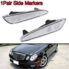 2x Clear Side Marker Signal Parking Light Lamp for Benz W211 2003-2006 E500 E320