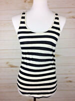 Forever 21 Women's black & white striped sleeveless tee top Sz S