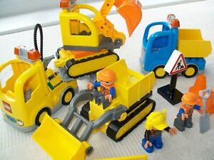 Lego Duplo construction site vehicles bundle