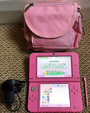 *Nintendo 3DS XL* Pink Handheld Console with Stylus, Charger & Case 'Xmas Gift'