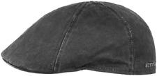 STETSON Sun Guard Vintage Flatcap Duck Cap Slide Level 1 Black New Trend