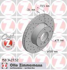 Disque de frein avant ZIMMERMANN PERCE 150.3427.52 BMW 3 E90 320d 150 163ch