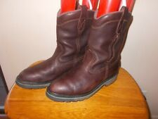 Men's John Deere Original Brown Leather #5990 Pull On Work Boots Size 11M USA