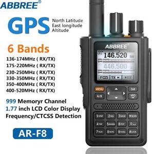 Ricetrasmittente ABBREE AR-F8 GPS ad alta potenza 136-520 MHz - professionale