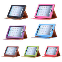 New Soft Leather Smart Case Cover Sleep / Wake Stand for APPLE iPad Color:B Y2W9