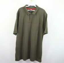The North Face Mens 2XL XXL Spell Out Wool Short Sleeve Hiking Polo Shirt Green