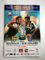 RUGBY LEAGUE WORLD CUP 2000 FINAL Australia v New Zealand at Old Trafford