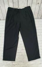 Savane Teflon Pleated Dress Pants Black MEN'S SIZE 36X29