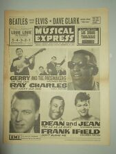 NME #888 JANUARY 19 1964 BEATLES ELVIS FAVE CLARK RAY CHARLES FRANK IFIELD