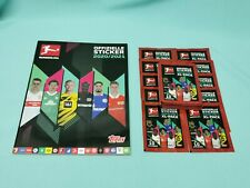 Topps Bundesliga Sticker 2020/2021 Sammelalbum + 25 Tüten / 250 Sticker 20/21