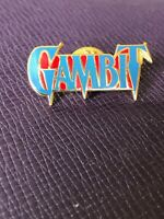 Vintage Marvel Planet Studios GAMBIT PIN 1993 Hat Lapel Badge Cloisonne