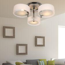 HOMCOM Lámpara de luz de Techo Colgante Araña de Acrílico con 3 Luces Cromado