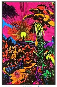 Lost Horizon Blacklight Poster 23 x 35 Flocked Psychedelic Trippy Gift