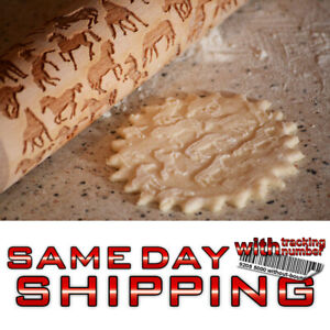Engraved rolling pin wooden ANY PATTERN laser cut embossing pin cookies embossed