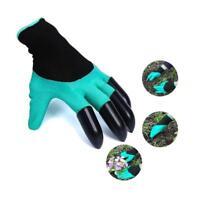 Paar Handschuhe Gartenhandschuhe Schutz for garten Graben Pflanzen 4Krallen