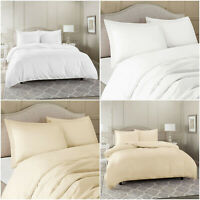 4 PC COMPLETE Duvet Quilt Cover Set 600TC 100% Egyptian Cotton 600 THREAD COUNT
