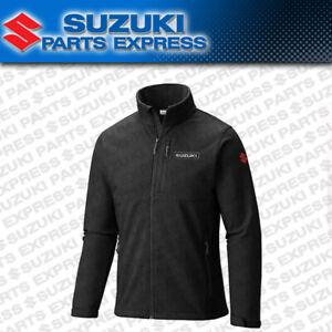 NEW GENUINE SUZUKI S LINE JACKET BLACK POLYESTER WATERPROOF ZIP UP 990A0-15100