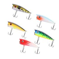 Lot 5pcs Popper Fishing Lures Bass Crankbaits Baits Tackle Minnow Fish Lure 6CM