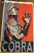 Cobra Commander Flag 3x5 Vertical Banner GI Joe man cave Cobra