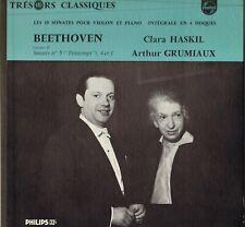 ARTHUR GRUMIAUX,CLARA HASKIL BEETHOVEN SONATES N° 5, 4 & 1 LP PHILIPS MINIGROOVE