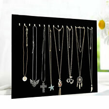 17 Hooks Jewelry Organizer Hanging Holder Necklace Earrings Display Stand Rack