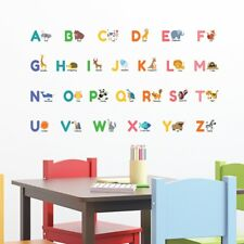 Decowall Animal Alphabet ABC Nursery Kids Removable Wall Stickers Decals Ds-8014