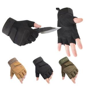 Fingerless Half-Finger Tactical Gloves Motorcycle Driving Gloves Riding Gloves