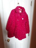 Children's Juicy Couture Pink Faux Fur Coat Size 7 - Preowned
