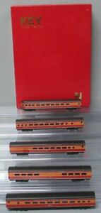 "Key Imports N Scale BRASS Southern Pacific ""Daylight"" Passenger Car Set EX/Box"