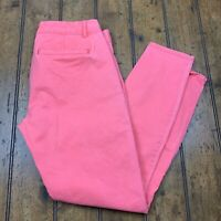 Khakis by Gap Womens 2 Skinny Mini Ankle Pants Pink Solid Coral Stretch