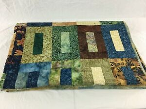 """68"""" x 52"""" Quilt Multiple Pattern Multi-Colored Blanket Full Size"""