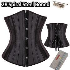 Sexy Underbust Waist Training Steel Boned Corset Bustier Lace up Shapewear TBBIN
