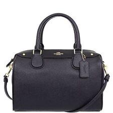 NWT F57521 Authentic Coach Handbag MINI Bennett Satchel Crossgrain Leather black