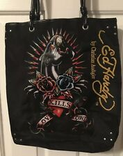61a980ba3e Ed Hardy By Christian Audigier Love Kills Slowly Panther Black Tote Bag  Purse