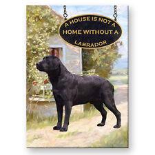 BLACK LABRADOR A House Is Not A Home FRIDGE MAGNET