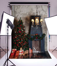 Vinyl 5x7FT Photo Backdrops Christmas Tree Gift Box Photography Background