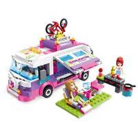 City Girls Princess Outing Bus Car Building Blocks Sets Bricks Model Kids