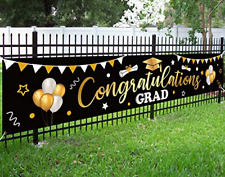 Graduation Banner Party Supplies 2020 Backdrop Sign Outdoor Decorations Black